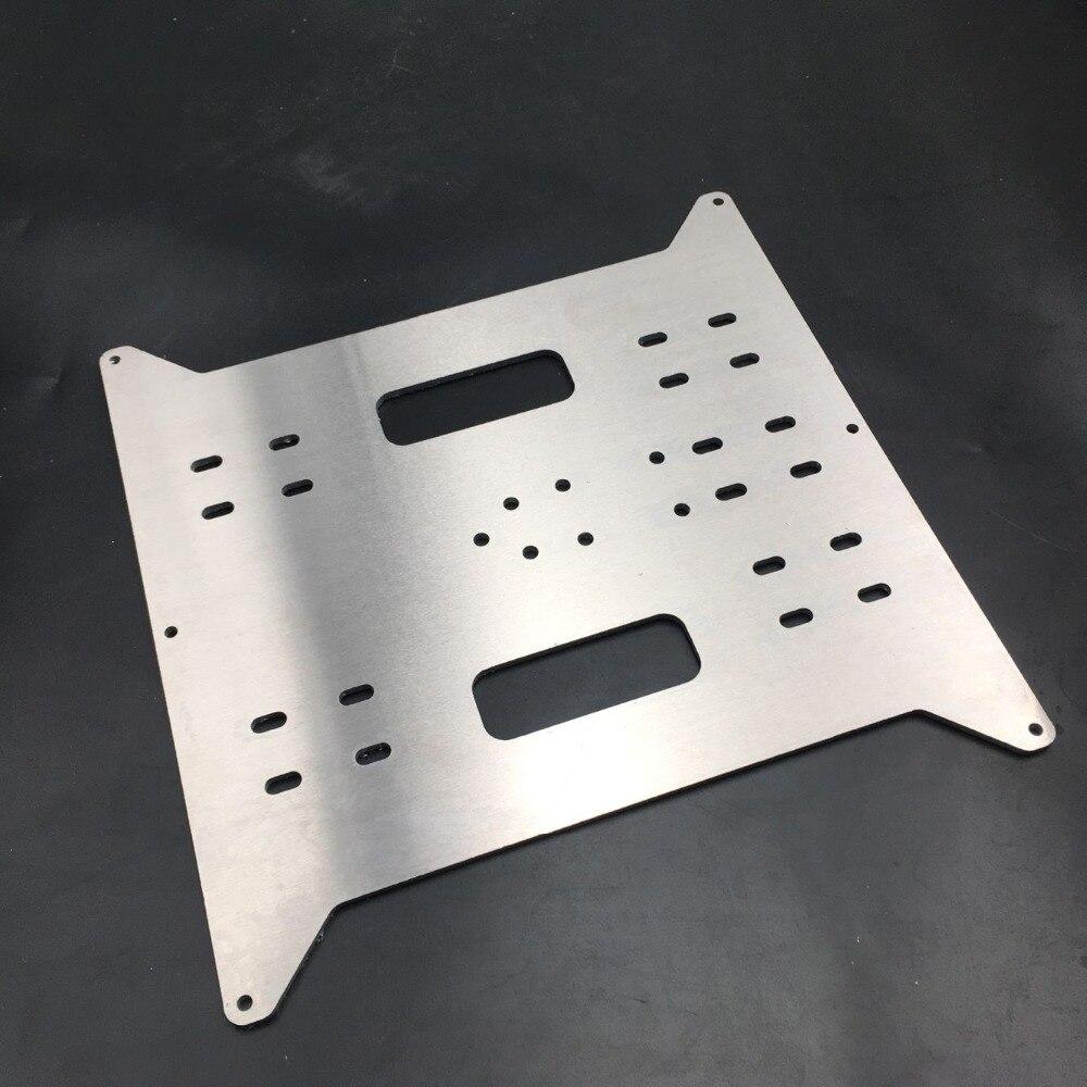 1 шт. алюминиевый легкий вес Y Карета для Wanhao/Anycubic MEGA i3 3D принтер металл с подогревом опорная пластина
