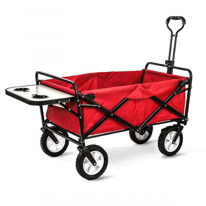 6bf05c83dede US $147.04 15% OFF|Upgrade Household Portable Shopping Cart with Table,  Steel Frame Outdoor Camping Cart, Folding Utility Wagon with Side Table-in  ...