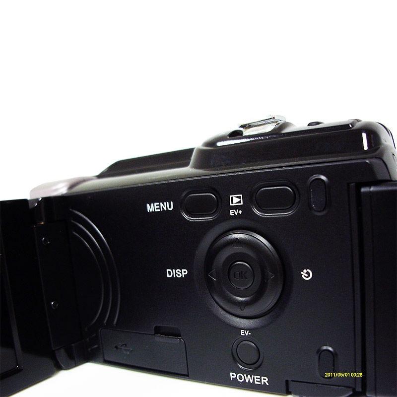Digital Video Camera 1080P Full HD Camcorder 16X Digital Zoom 16MP HDV-603 External Lithium Battery 3 Display 16mp max digital video camera with 16x digital zoom 5mp cmos sensor 720p hd lithium battery free shipping