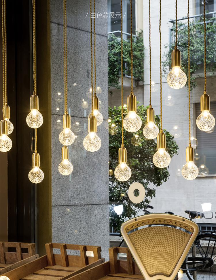 Gold LED Creative Crystal Creative Pendant Light European-style Luxury LED Lamps Moderm Glass Indoor Lighting RestaurantGold LED Creative Crystal Creative Pendant Light European-style Luxury LED Lamps Moderm Glass Indoor Lighting Restaurant