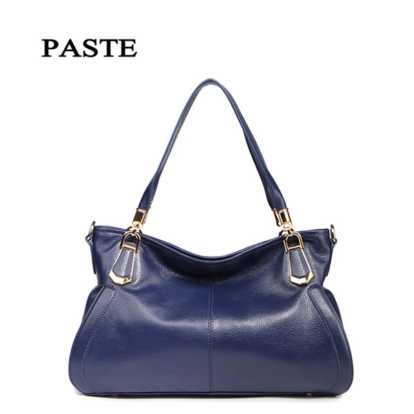 PASTE Brand 100% Genuine leather Women Handbag fashion genuine leather shoulder bag for sweet ladies casual tote messenger bags luxury genuine leather bag fashion brand designer women handbag cowhide leather shoulder composite bag casual totes