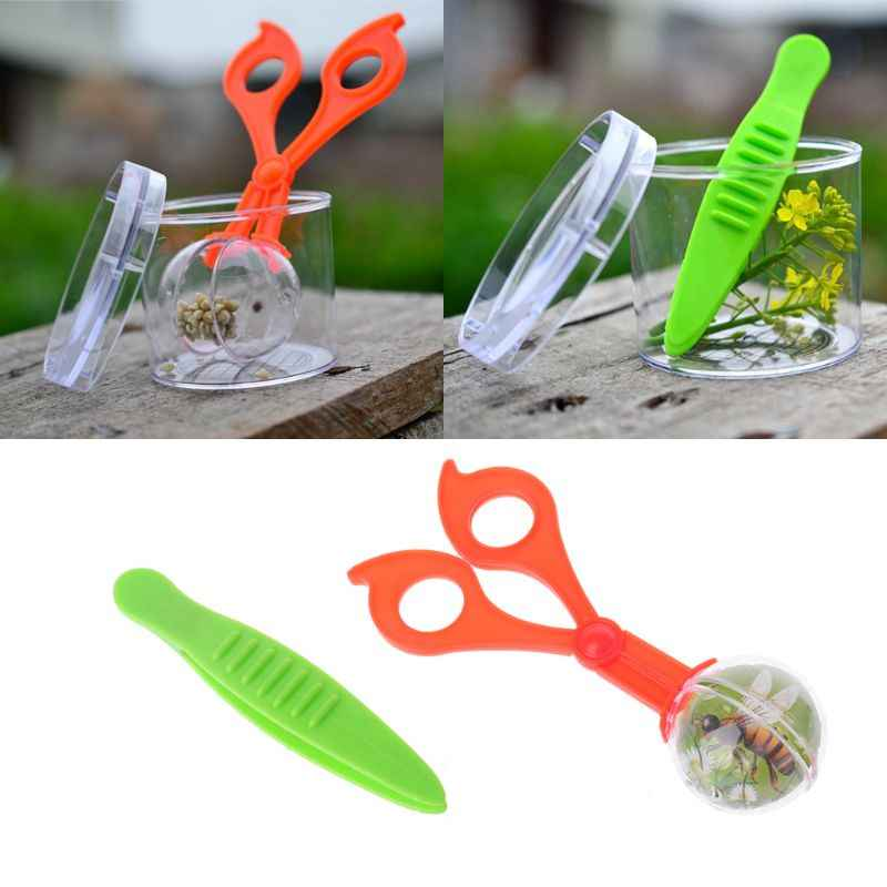 Reptile Amphibian Feeding Litter Poop Cleaning Clamp Insect Tweezers Clip Tool