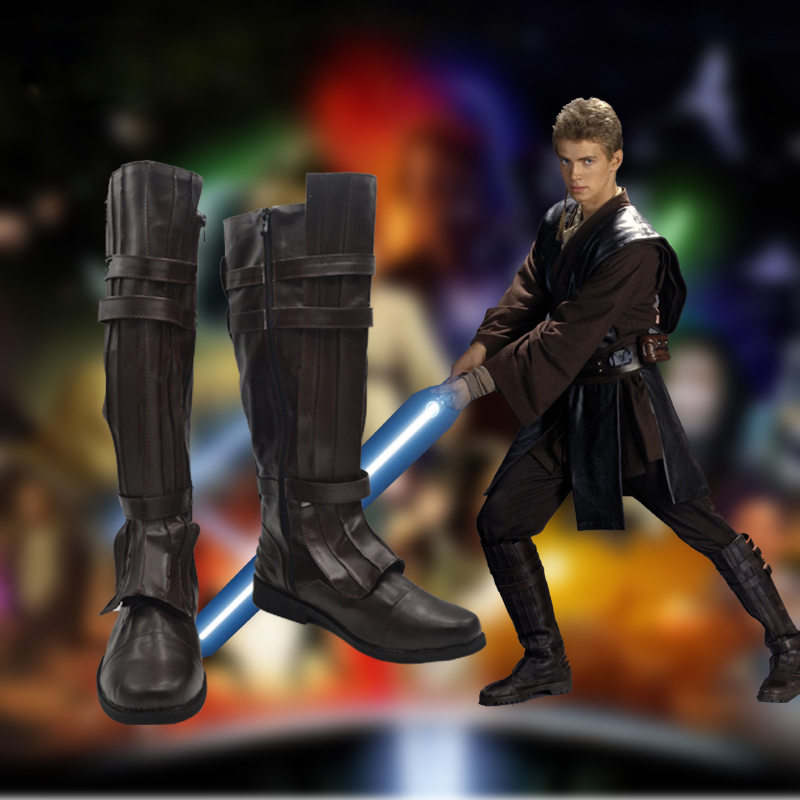 Star Wars Anakin Skywalker/Darth Vader shoes Cosplay Shoes Halloween cos boots Custom-made