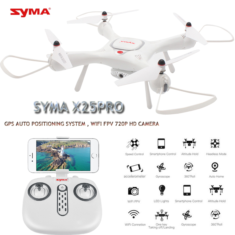 Syam X25PRO GPS Drones With Camera HD 720P Live Video Dron FPV Quadrocopter Altitude Hold Quadcopters Racing RC Helicopters