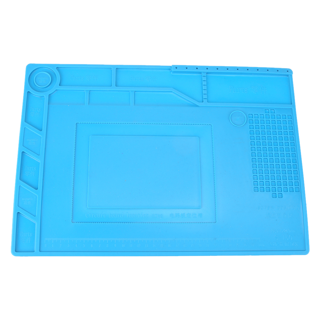S-150 Heat Insulation Maintenance Platform Electronic Repair Desk Mat Pad For Set Screws Hole Location IC chips And Small Parts