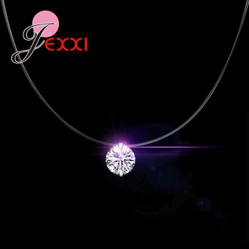 5d6939794f59 YAAMELI Descuento precio 925 plata esterlina mujer cadena corta para fiesta joyería  cristal austriaco claro colgante