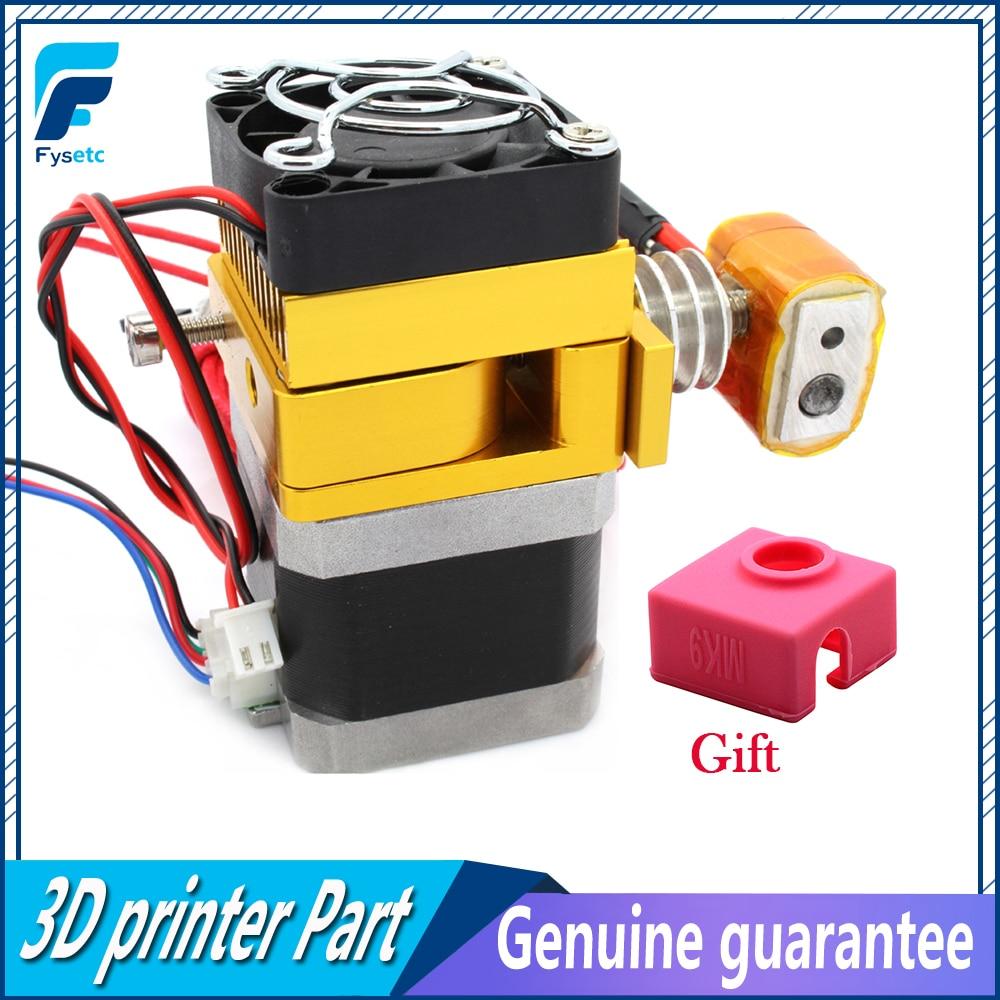 New MK9 Extruder 12v 0.4mm Nozzle 100K Thermistor For 3D Printer Prusa I3 Makerbot 1.75mm Filament With MK9 Sock As Gift все цены