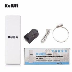Image 5 - KuWfi 2 KM 150 mb/s Router bezprzewodowy na świeżym powietrzu wodoodporny bezprzewodowy Router CPE 1000 mW WIFI most i Repeater wsparcie monitora kamera IP
