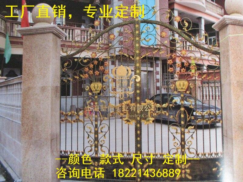 Custom Made Wrought Iron Gates Designs Whole Sale Wrought Iron Gates Metal Gates Steel Gates Hc-g29