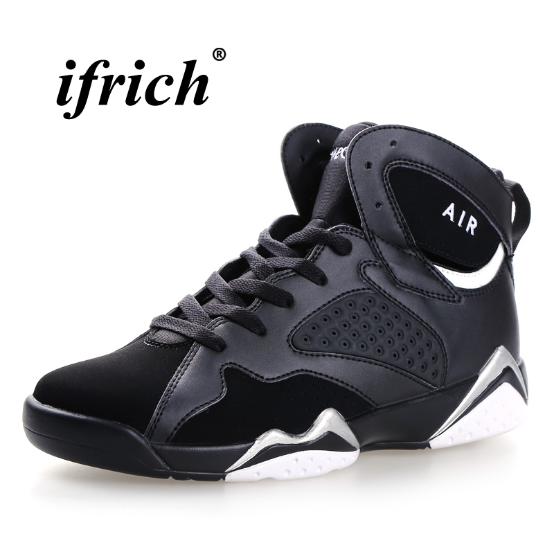 Couples Basketball Boots Black White Training Shoes Men Spring Autumn Shoes Gym High Top Anti-slip Kids Basketball Shoes
