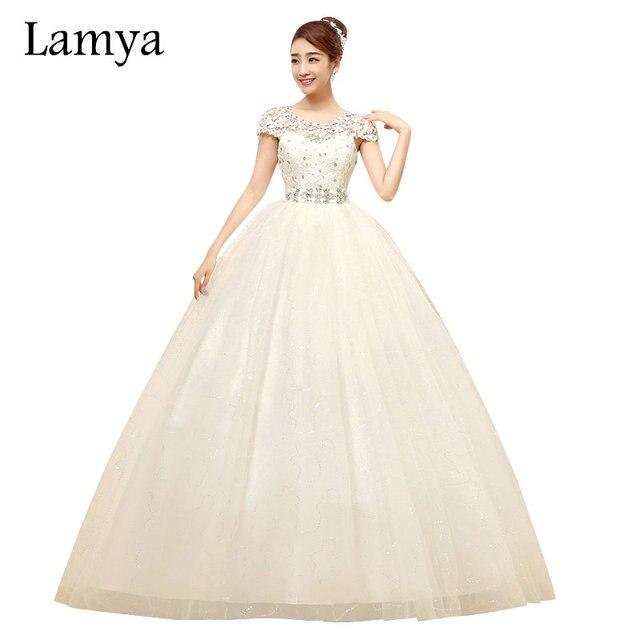 Lamya Luxus Kristall Spitze Hochzeitskleid Elegante Romantische Lace ...