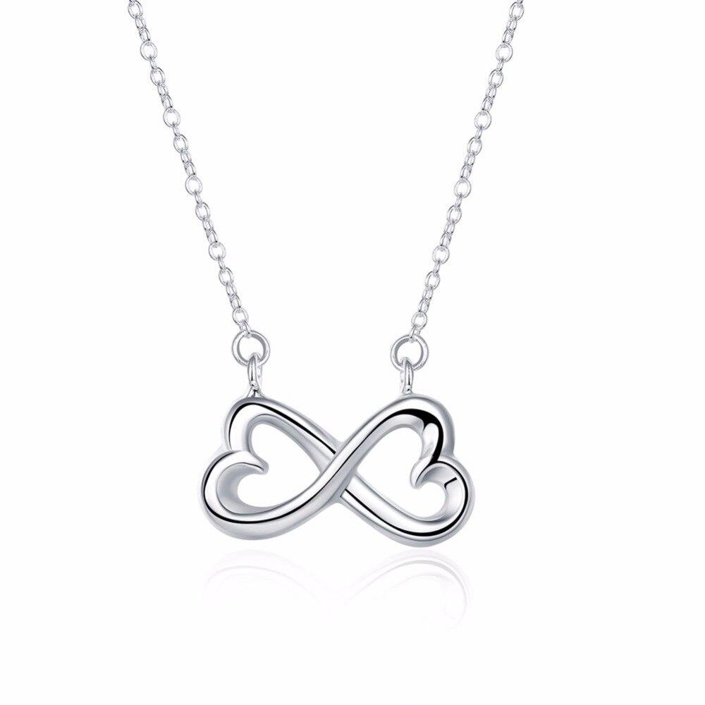 u1402birds necklace 18 inch  u2466 silver silver plate rolo chain