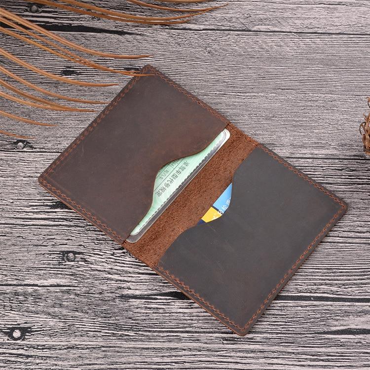 Portefeuille mince en cuir de vache pour cartes de crédit en cuir ID cartes bancaires Porte Carte Porte Carte portefeuille minimaliste Vintage