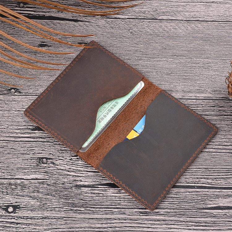Slim Cow Leather Wallet For Credit Cards Leather ID Bank Cards Porte Carte Cardholder Vintage Minimalist Wallet