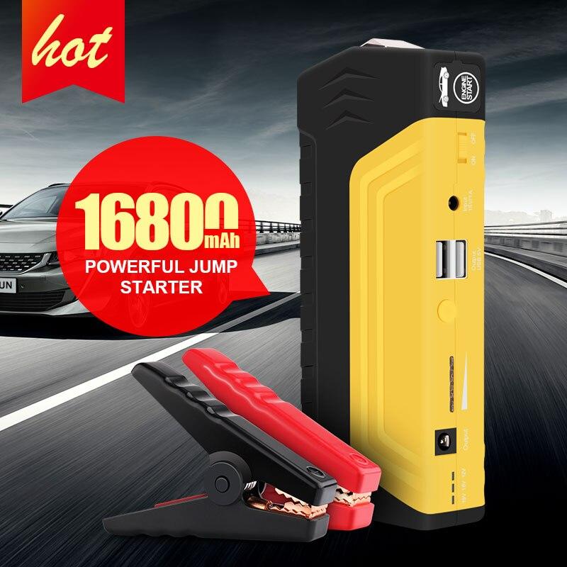16800 mah 12 v Auto Batterie Power Bank Auto Starthilfe Tragbare 600A Spitzen Starthilfe Mit Gewöhnlichen Kabel Und vier in Einem USB Kabel