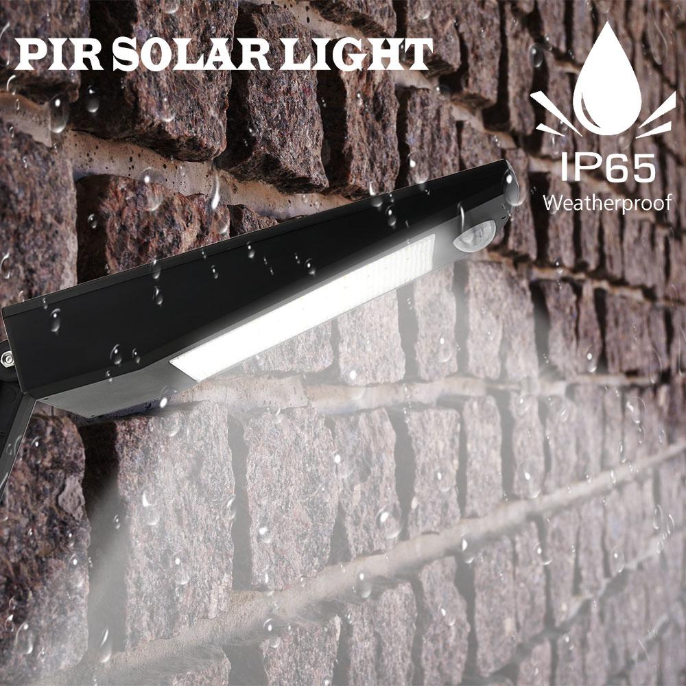 nova chegada 48 ip65 leds de iluminacao ao ar livre super brilhante luz solar sensor de