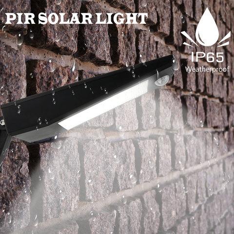 nova chegada 48 ip65 leds de iluminacao ao ar livre super brilhante luz solar sensor