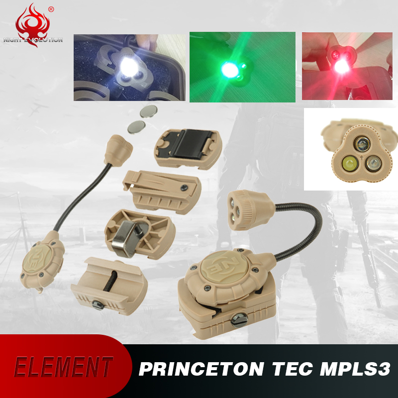 Tactical-Light Green-Weapon Ir-Laser Princeton Tec for Helmet MPLS3 Red Airsoft NE05015