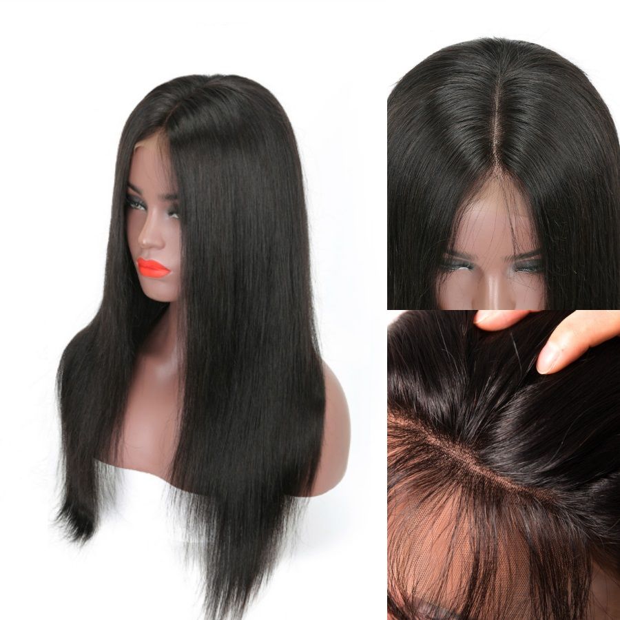 Oxeye girl 360 Lace Wig Pre Plucked Malaysian Straight Lace Frontal Wig With Baby Hair For