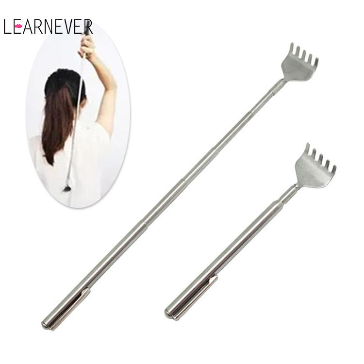 Scratching Massage Kit Stainless Steel Telescopic Rake Portable Pen Clip Telescopic Back Scratcher Itch Scratch Massage Tool