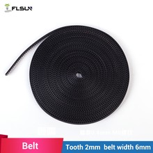Factory Supply 3D printer accessories 2GT-6mm rubber belt GT2 belt 3d printer belt 5m/bag(China)