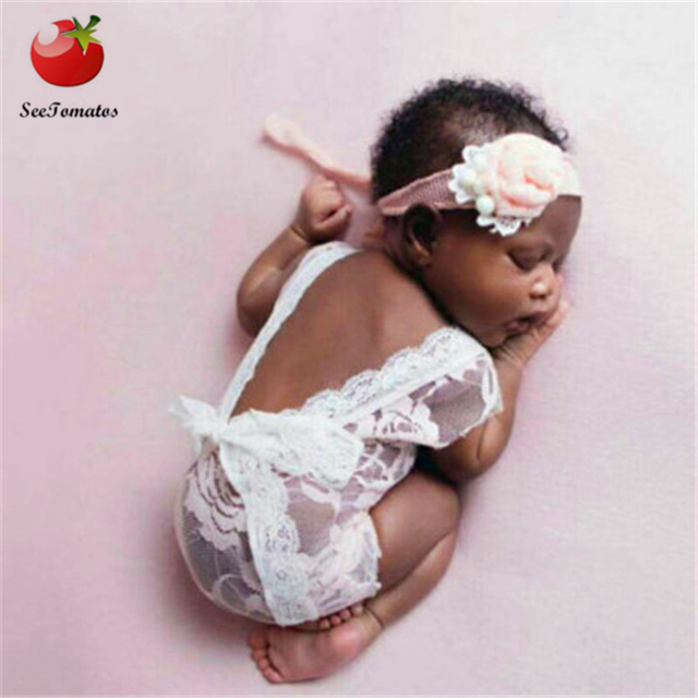 Hot sale 2018 new newborn photography props baby lace romper fotografia princess costumes clothes for infantil