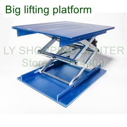 20 X 25 Cm Big Blue Manual Lifting Platform Lifting Table