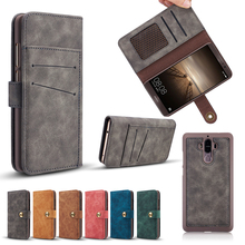 Huawei Mate9 Case Luxury Retro Leather Wallet for Huawei Mate 9 2 in 1 Detachable Magnet Flip Back Cover Cases for Huawei Mate9