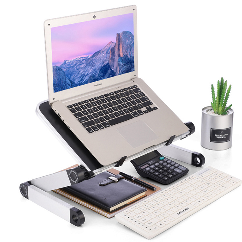 Universal 360 Degree Adjustment Folding Aluminum Alloy Laptop Stand For Macbook Lenovo Asus HP Notebook Heighten Bracket Holder(China)