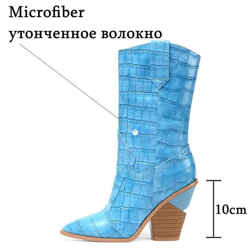 ALLBITEFO yeni moda marka yüksek topuk yarım çizmeler kadınlar için Beş renk seçenekleri kalın topuk kış kadın çizmeler martin çizmeler
