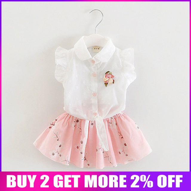 Baby girls clothing set summer newborn baby fashion tops vest+tutu dress 2pcs clothes suit toddler girls party costume sets