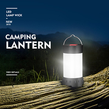 5 Mode USB Rechargeable Mini Portable Lanterns Magnet Outdoor LED Camping Lantern Flashlight Waterproof White Red Light