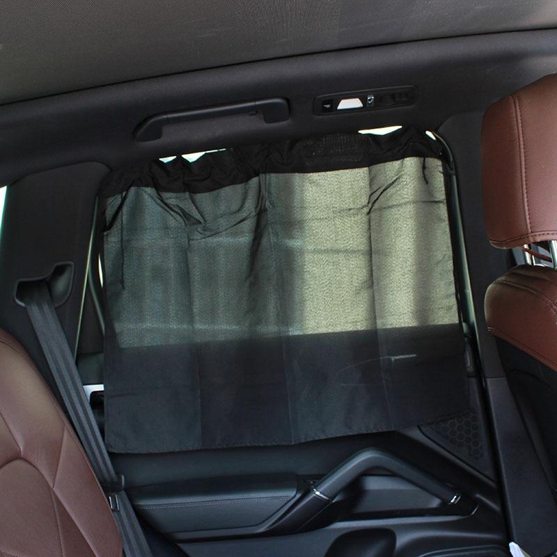 Car Curtains Dust Protection Suction Cup 2Pcs Car Window