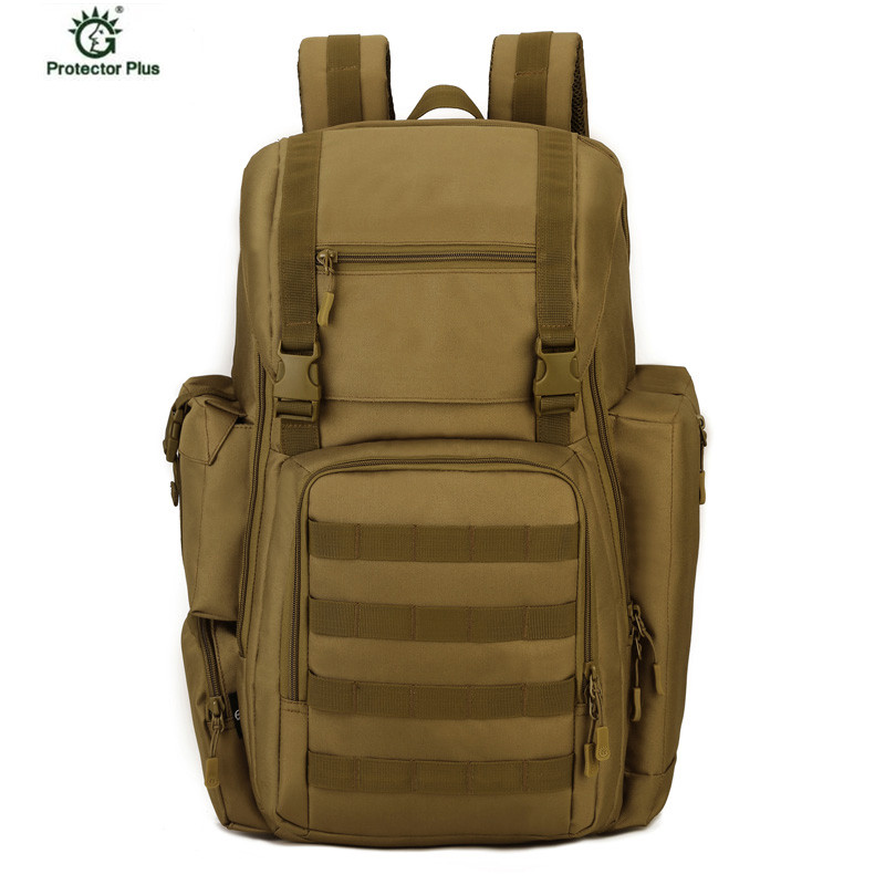 все цены на Large Capacity Military Molle Backpack Men Multi-function Waterproof Pack Travel Backpack Nylon Bags Mochila Camouflage Backpack онлайн