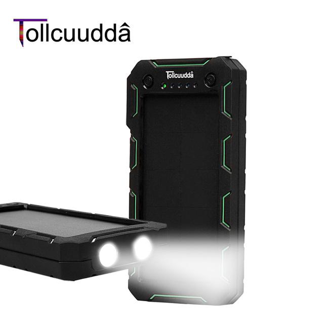 Tollcuudda banco pover energía de la batería externa 13000 mah cargador solar portátil usb powerbank móvil cargador para iphone xiaomi mi