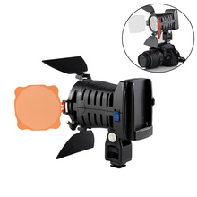 New 6 LEDs Camera Lamp Beads LED-5010A Camcorder DV Video Light for Camera Camcorder LED Lights with F750 Battery &Charger @JH