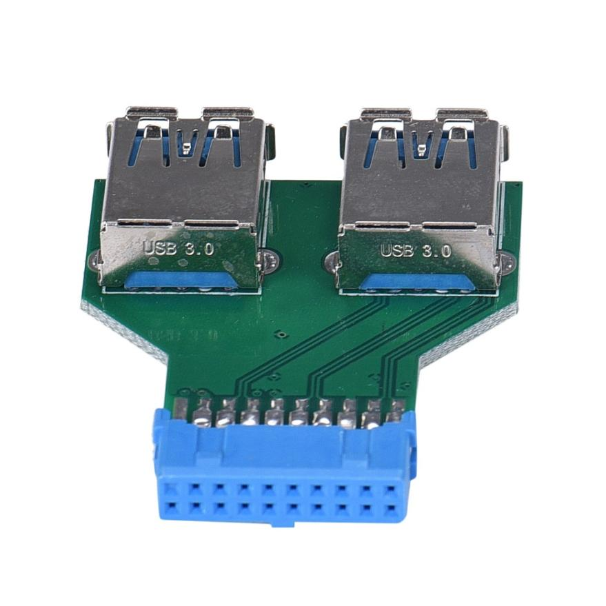 Factory price MOSUNX Motherboard 19Pin Header To 2 Ports USB 3.0 A Female HUB Adapter Connector Drop Shipping Drop Shipping