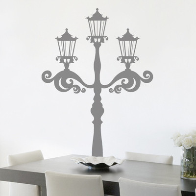 Street Light Wall Stickers Home Decoration Removable Room wall covering PVC Bedroom wall decals