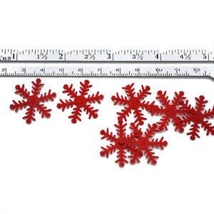 Image 5 - 100pcs เกล็ดหิมะคริสต์มาสต้นไม้/หน้าต่าง DIY แขวนเครื่องประดับไม่ทอ Confetti Xmas PARTY อุปกรณ์ตกแต่งโต๊ะ