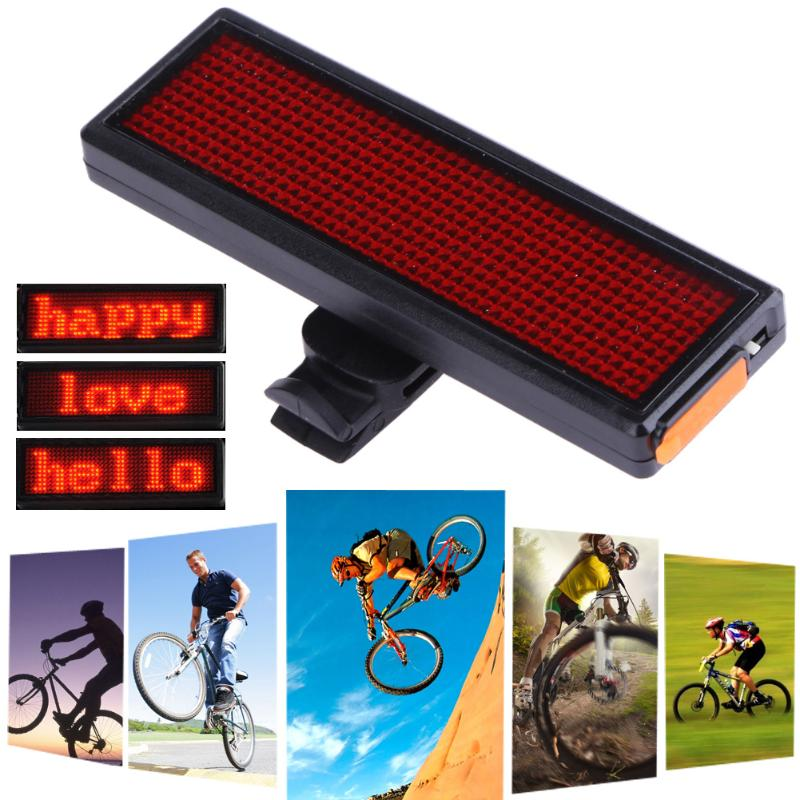 Programmable LED MTB Bicycle Taillight USB Rechargeable Electronic Rear Light Adjustable 8 gear Speed Cycling Warning Lamp