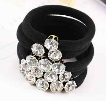 1 pcs 3 diamonds large hair accessories for women, elastic hair bands for girls, hair ornaments for children's band 2017