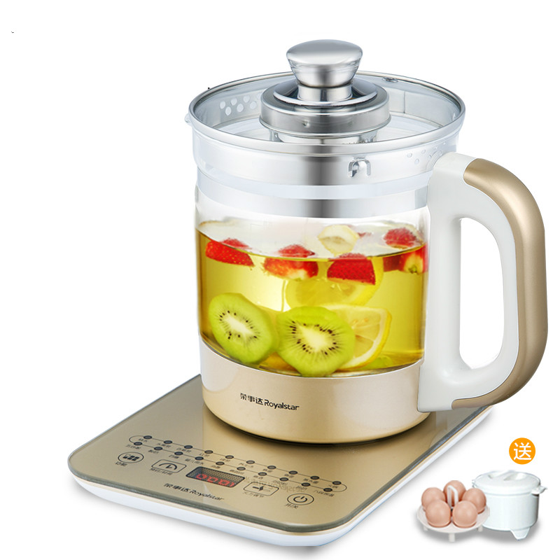 Automatic Thickening Sekurit Glass Electric Teapot Multi-functional Health Pot Make Yoghurt Health Soup Boiled Water Tea Kettle electric kettle health care cup electric hot mini glass health pot office smart water brew teapot