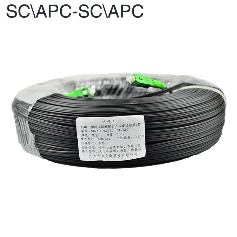 30M 50M 100M 200M 500M SC APC Drop Optic Patch Cord Cable Single Mode Simplex G657A FTTH Drop Fiber Optic Cable Jumper Cable