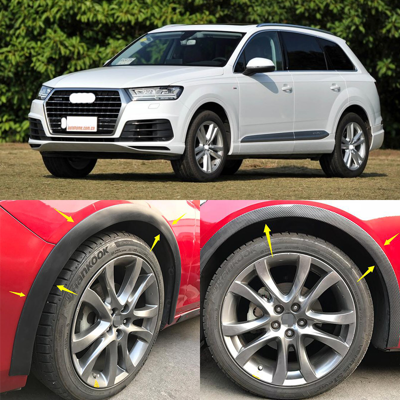 Wheel Arch car side fender flares Cover Mudguards trims fit for Audi Q7 RSQ7 Sline 2006 2015 Matt Bright Black ABS 2017 2018