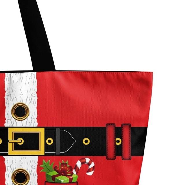 Fashion High Quality Printing Red Casual Canvas Tote Bag Women Shoulder Bags Handbag 3