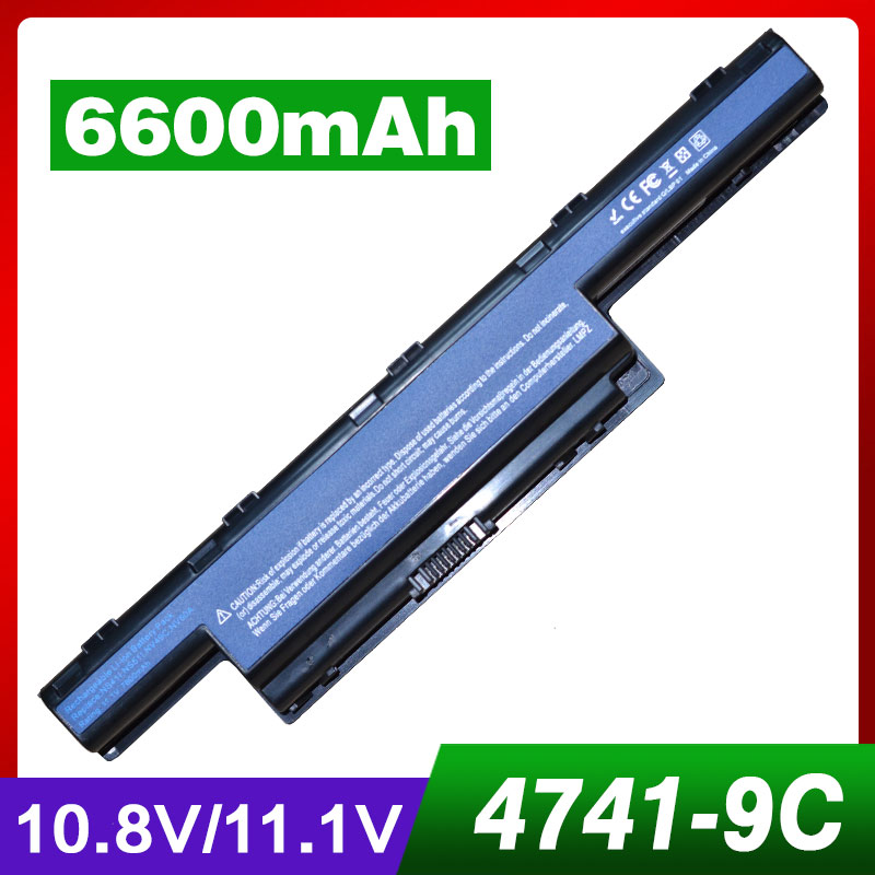 7800mAh laptop battery for Acer Aspire AS10D75 AS10D31 AS10D51 AS10D61 AS10D71 4741 5551 5552G 5551G 5560G 5733Z 5741 5741G 7551