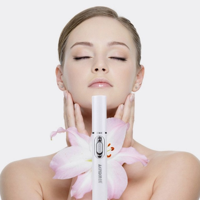 Lápiz láser para el acné, máquina portátil de eliminación de arrugas, dispositivo de eliminación de cicatrices suaves duradero, bolígrafo de terapia de luz azul, KD-7910 de relajación para masajes