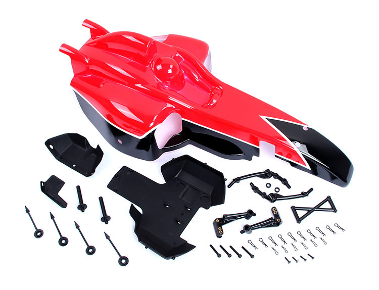 BAJA FX car shell kit 85224. red, white choose светильник 3d light fx авто red