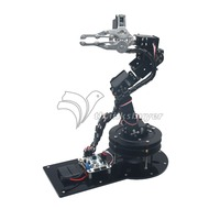Metal Alloy 6 DOF Robot Arm Clamp Claw & Swivel Stand Mount Kit