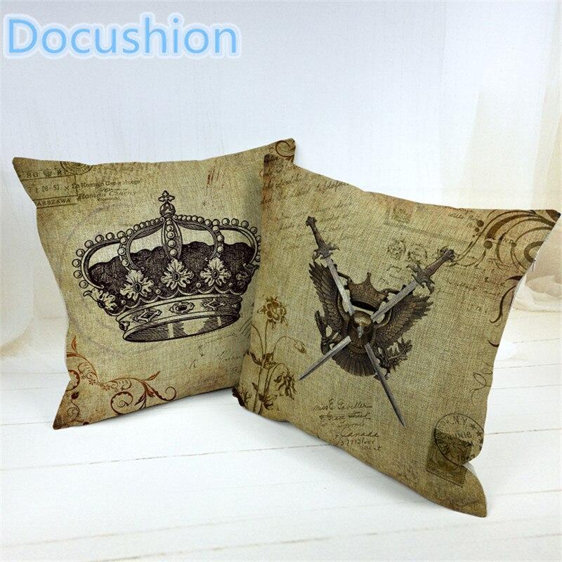 2015 Fashion European Decorative Cushions New Arrival Imperial Crown Style Throw Pillows Car Home Decor Cushion
